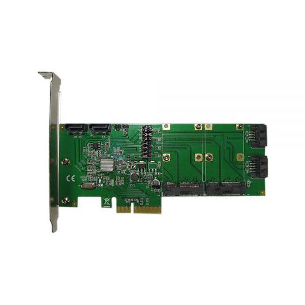 Контроллер PCI-E 2.0, 4порта SATA6G + 2порта mSATA, RAID, Hyper Duo (FG-EST14A-1)