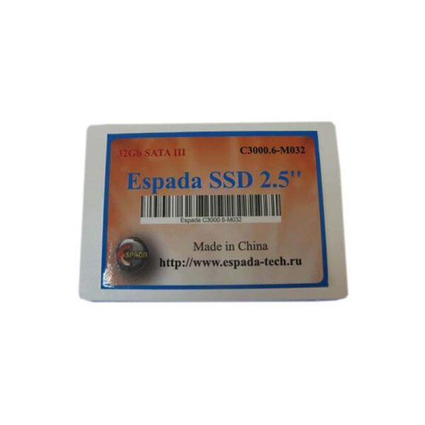 "Жесткий диск SSD 32Gb 2,5"" SATA6Gb MLC Espada C3000.6-M032"