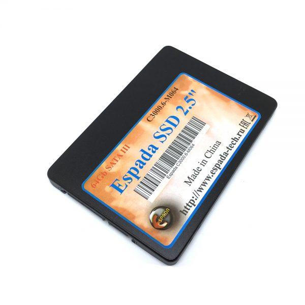 """Твердотельный накопитель SSD 64Gb 2.5"""" SATA-III MLC Espada C3000.6-M064"""