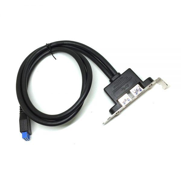 Монтажная планка 2 порта USB 3.0 Espada EBRT-2USB3LOW