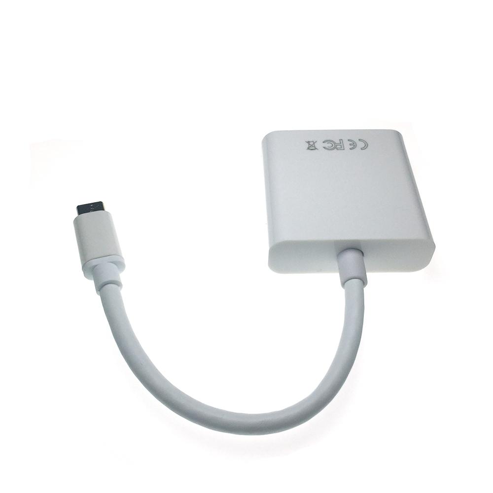 Видеоконвертер USB 3.1 Type C male to DVI type I 24+5 pin female, Espada EusbCdv
