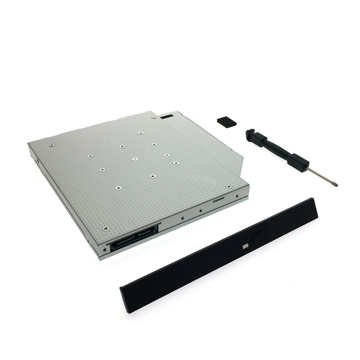 Адаптер оптибей Espada M2MS1295 mSATA/NGFF/M.2 SSD to miniSATA 12,7мм для подключения SSD mSATA/NGFF к ноутбуку вместо DVD