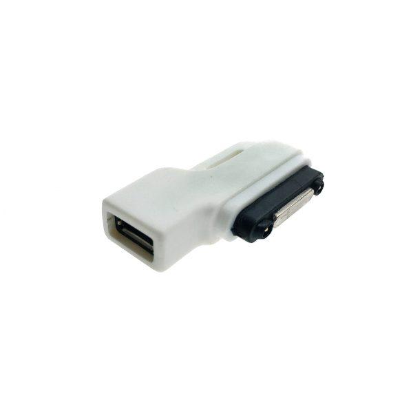 Переходник RDL to micro USB type B female угловой