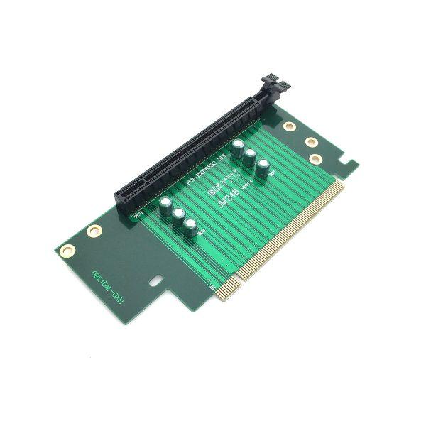 Переходник PCI-E X16 M to PCI-E X16 F, 90° угловой 4U, EPCIE164U