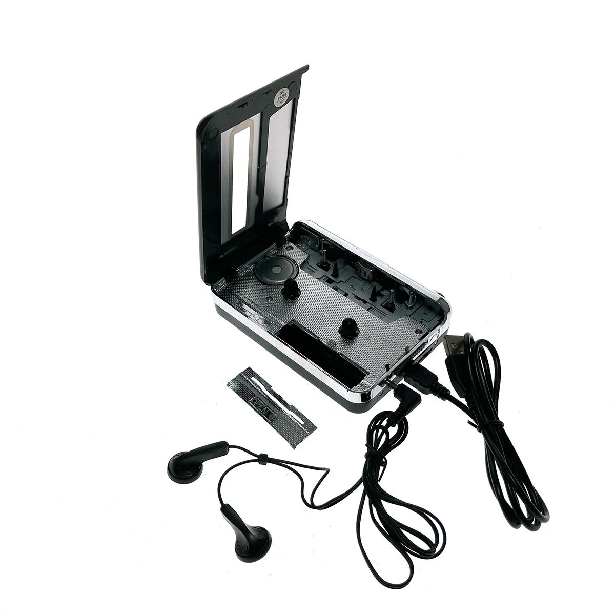 Кассетный плеер USB 2.0 с МР3 конвертером для оцифровки аудиокассет в МР3, Cassette Capture EZCAP