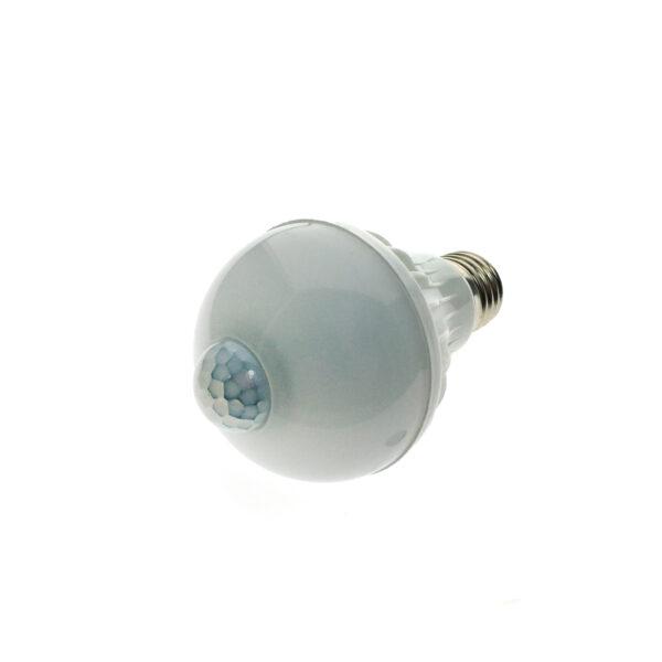 Светодиодная LED лампа Е27 с датчиком света/освещенности и движения Espada E27-6-M-6W 100-265V