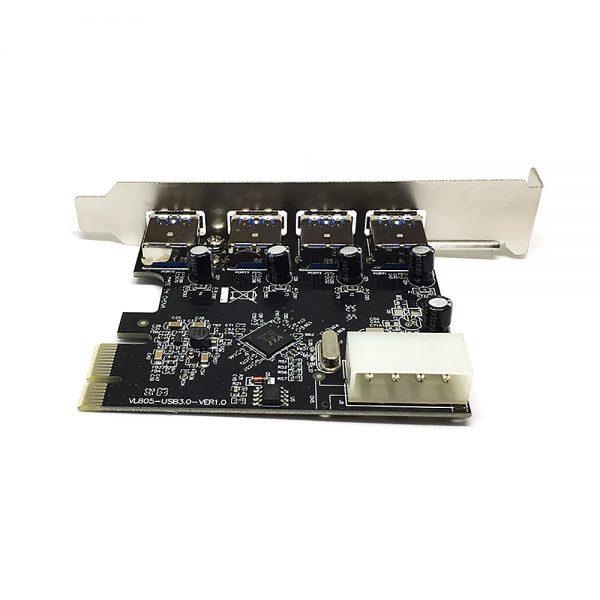Контроллер PCI-E, USB3.0 4внеш.порта, модель PCIe4USB3.0, Espada,oem
