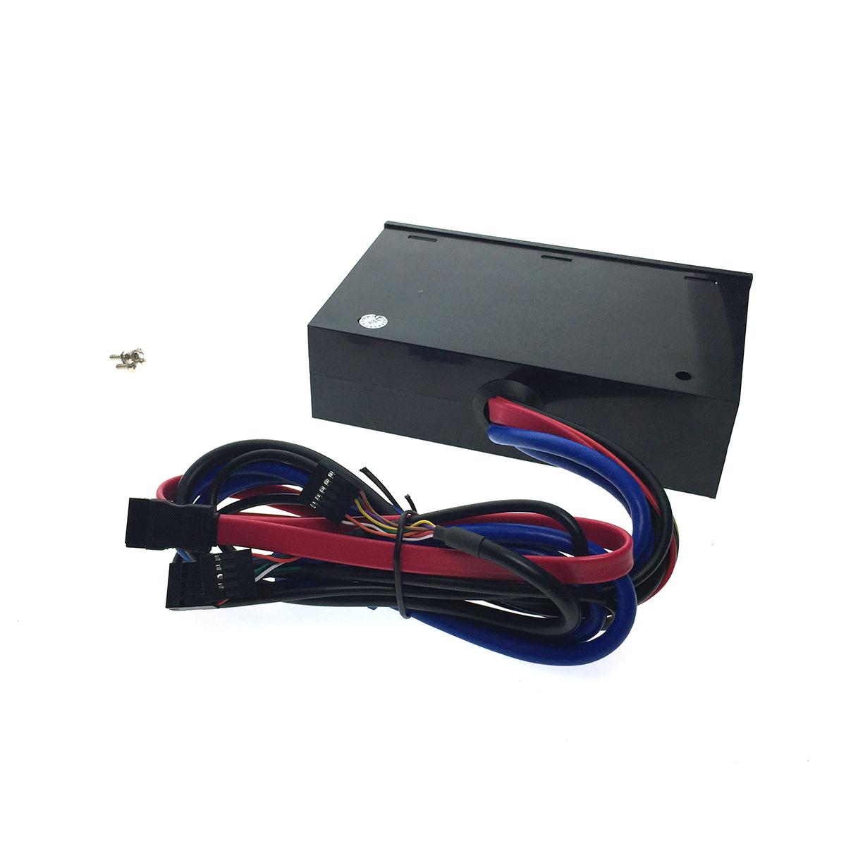 """Многофункциональная панель в 5,25"""", 2USB3.0, 4USB2.0, Molex 4 pin DC 12V,5V, e-SATA, 2 Jack 3,5 Card Reader, Espada EHUBUSB3&4P2"""