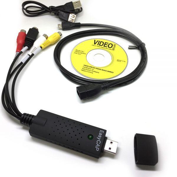 Конвертер Micro USB type B + Usb 2.0 to RCA/S-video плата видеозахвата EmcUsbRca