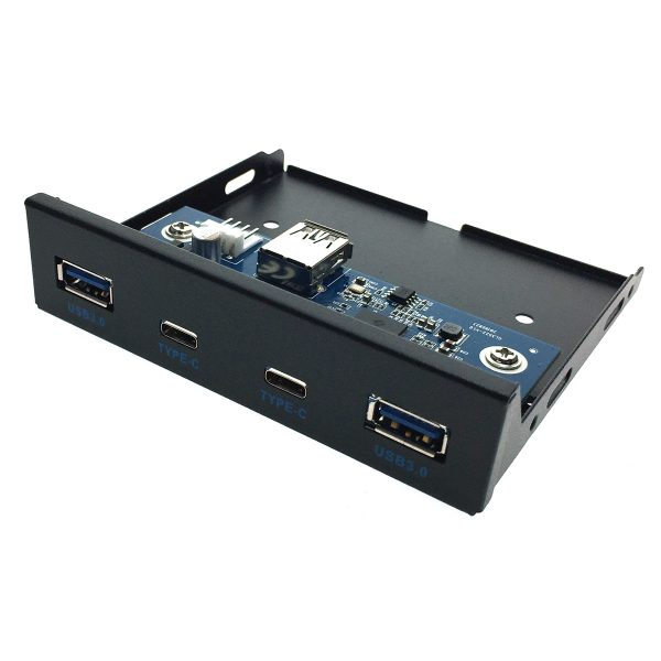 Планка на переднюю панель 2 порта USB 3.1 type C и 2 порта USB 3.0, Efr2usbC&3.0