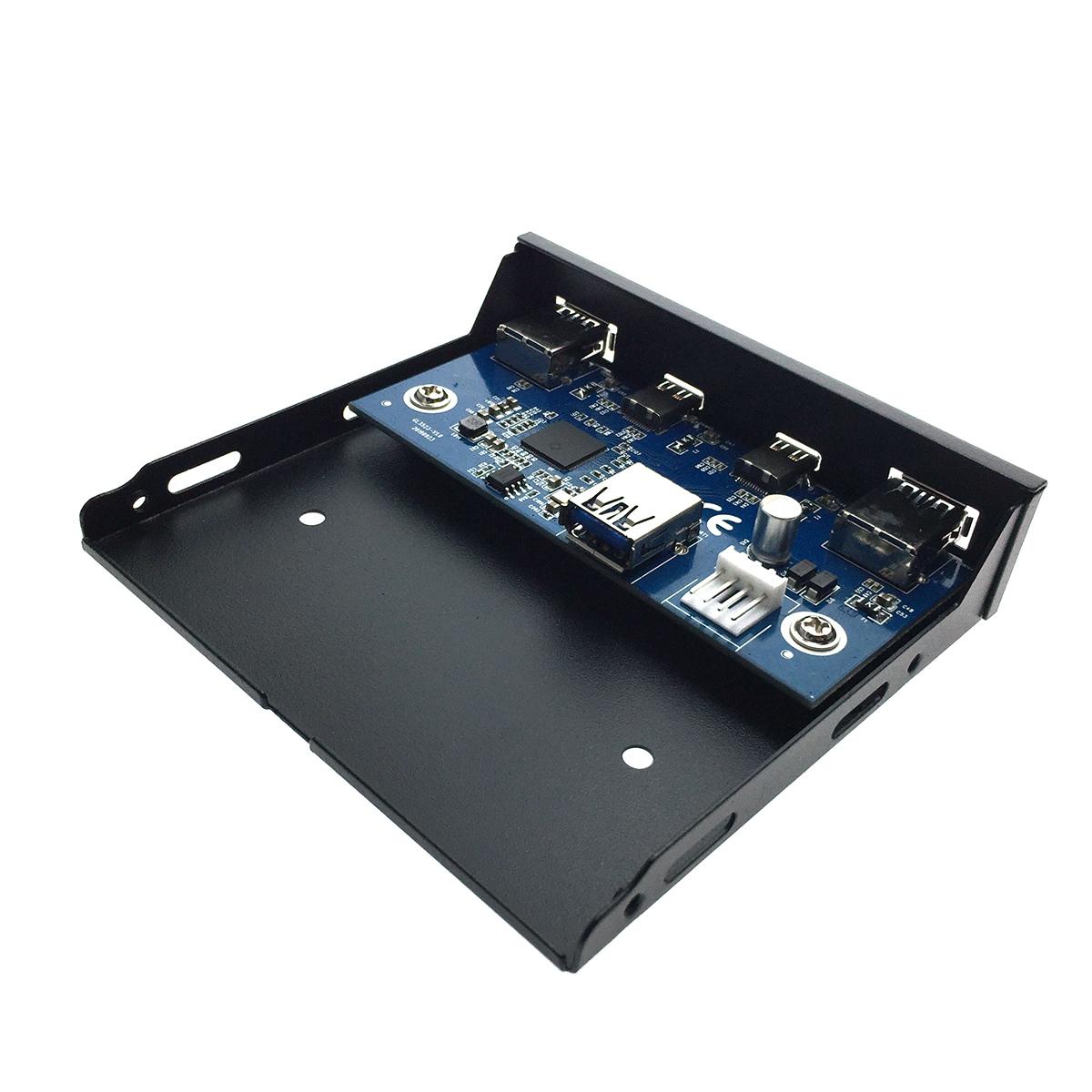 Планка на переднюю панель 2 порта USB 3.1 type C и 2 порта USB 3.0, Efr2usbC&3.0 Espada
