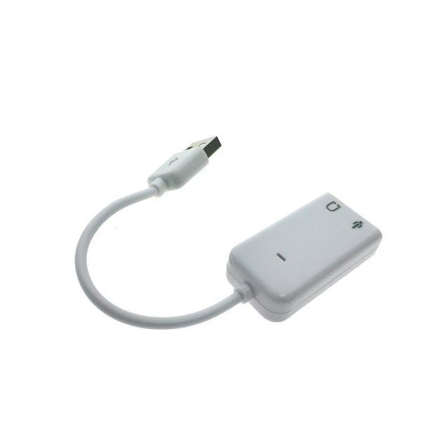 Внешняя звуковая карта USB, модель PAAU003, Espada (для ноутбука/ПК)