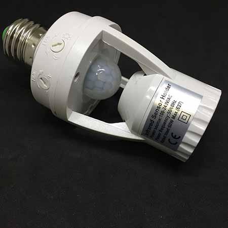 Патрон Е27 с датчиком движения (Light sensor) для лампы Espada E-E27AM
