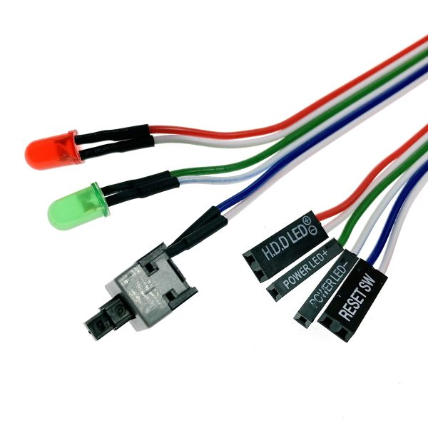 Внешняя кнопка включения компьютера с кабелем и индикацией, Esapda EATXpower1key