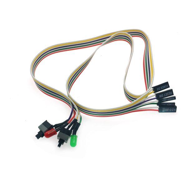 Внешние кнопки включения компьютера / Power/Reset / с кабелем и индикацией, EATXpower2key, Espada