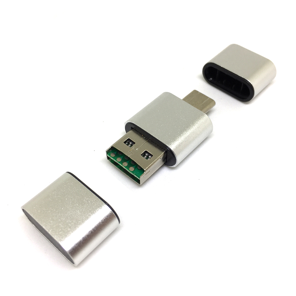 Картридер USB A+Type-C to MicroSD/TF, модель ESP-UCSD, Espada