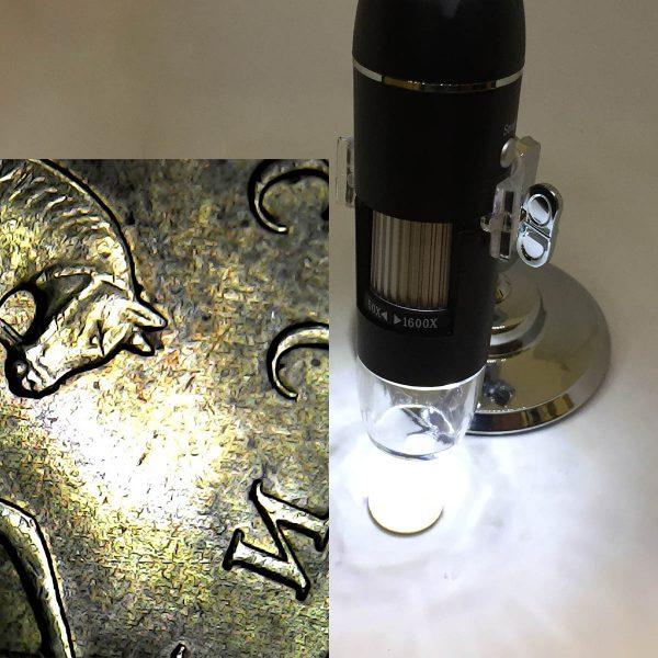 Портативный цифровой USB-микроскоп Espada U1600X c камерой 0,3 МП и увеличением 1600x