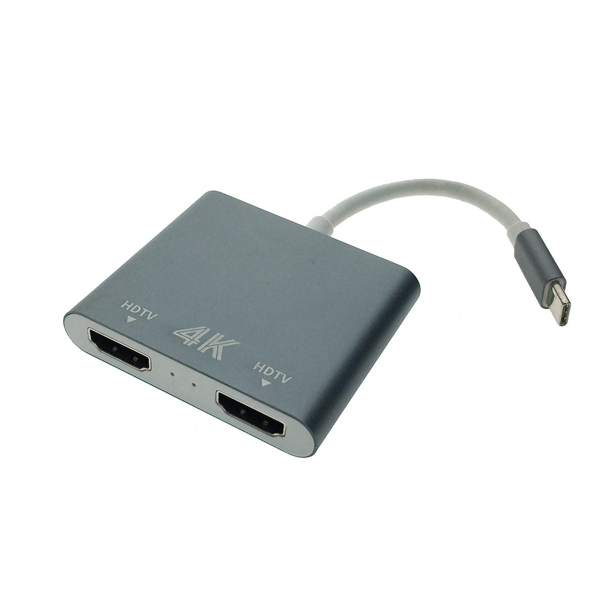 Видеоконвертер USB 3.1 type C to 2 * HDMI, EusbC2hdm 4K Espada