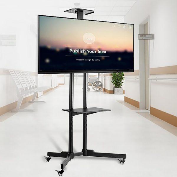 """Стойка напольная Ekr1500 Espada для телевизора от 32"""" до 65"""", весом до 50 кг с полками"""