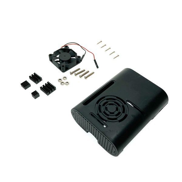 Корпус с вентилятором и радиаторами для Raspberry Pi 4 model B, CaseRaspPI4FR