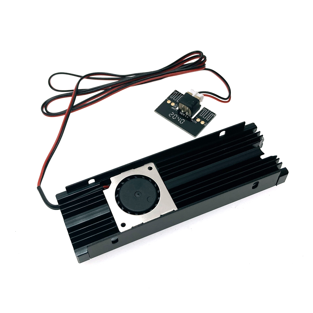 Радиатор для SSD М.2 2280 алюминиевый с активным охлаждением, модель ESP-R3