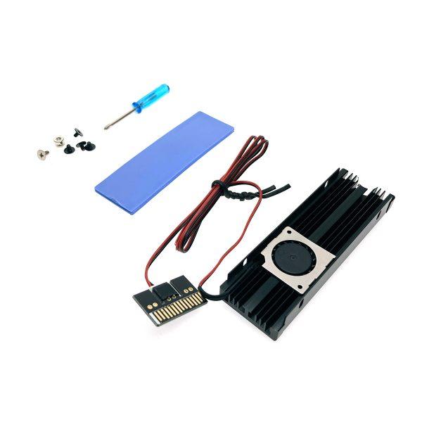 Радиатор для SSD М.2 2280 алюминиевый с активным охлаждением, Espada ESP-R3