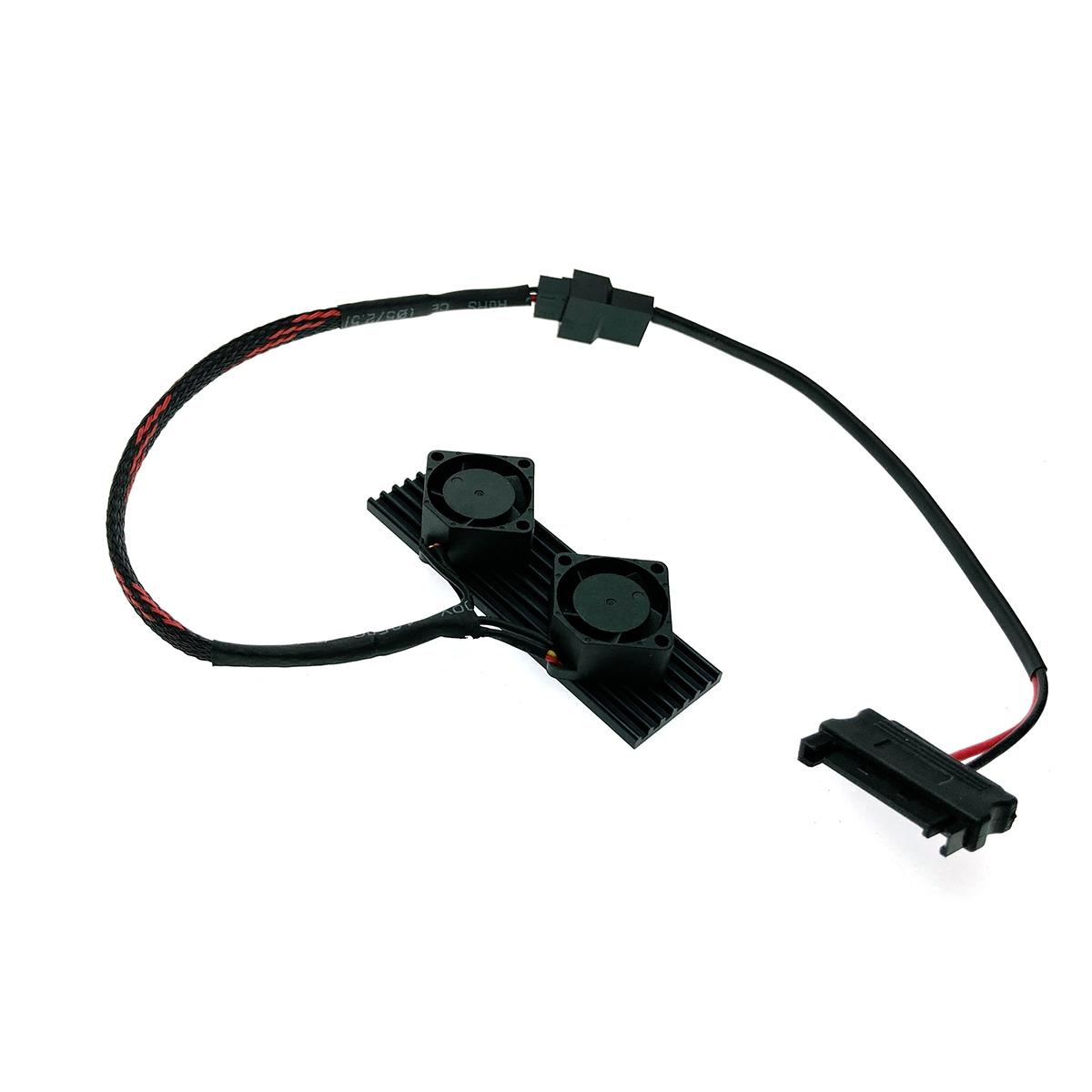 Радиатор для SSD М.2 2280 алюминиевый с активным охлаждением, модель ESP-R5
