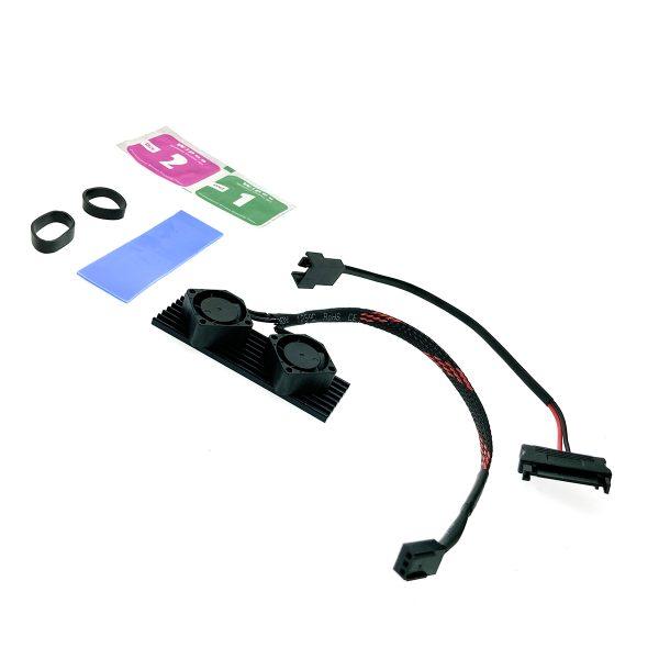 Радиатор для SSD М.2 2280 алюминиевый с активным охлаждением, Espada ESP-R5