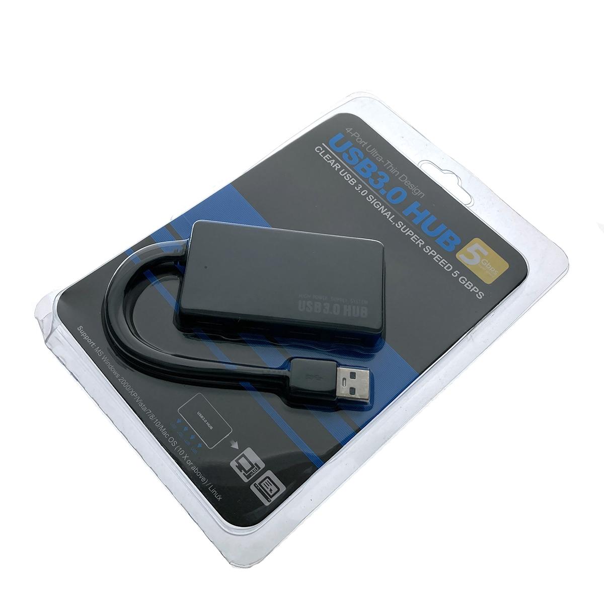 Хаб USB 3.0 на 4 порта USB 3.0 с дополнительным питанием, 15см EhVL815, Espada