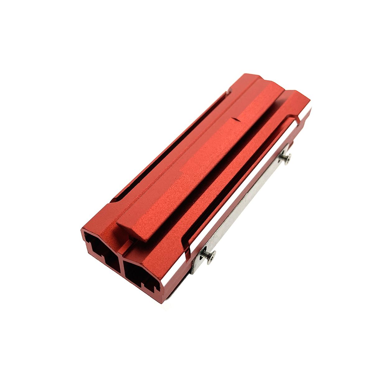 Радиатор для SSD М.2 2280 алюминиевый, модель ESP-R6, Espada, цвет красный