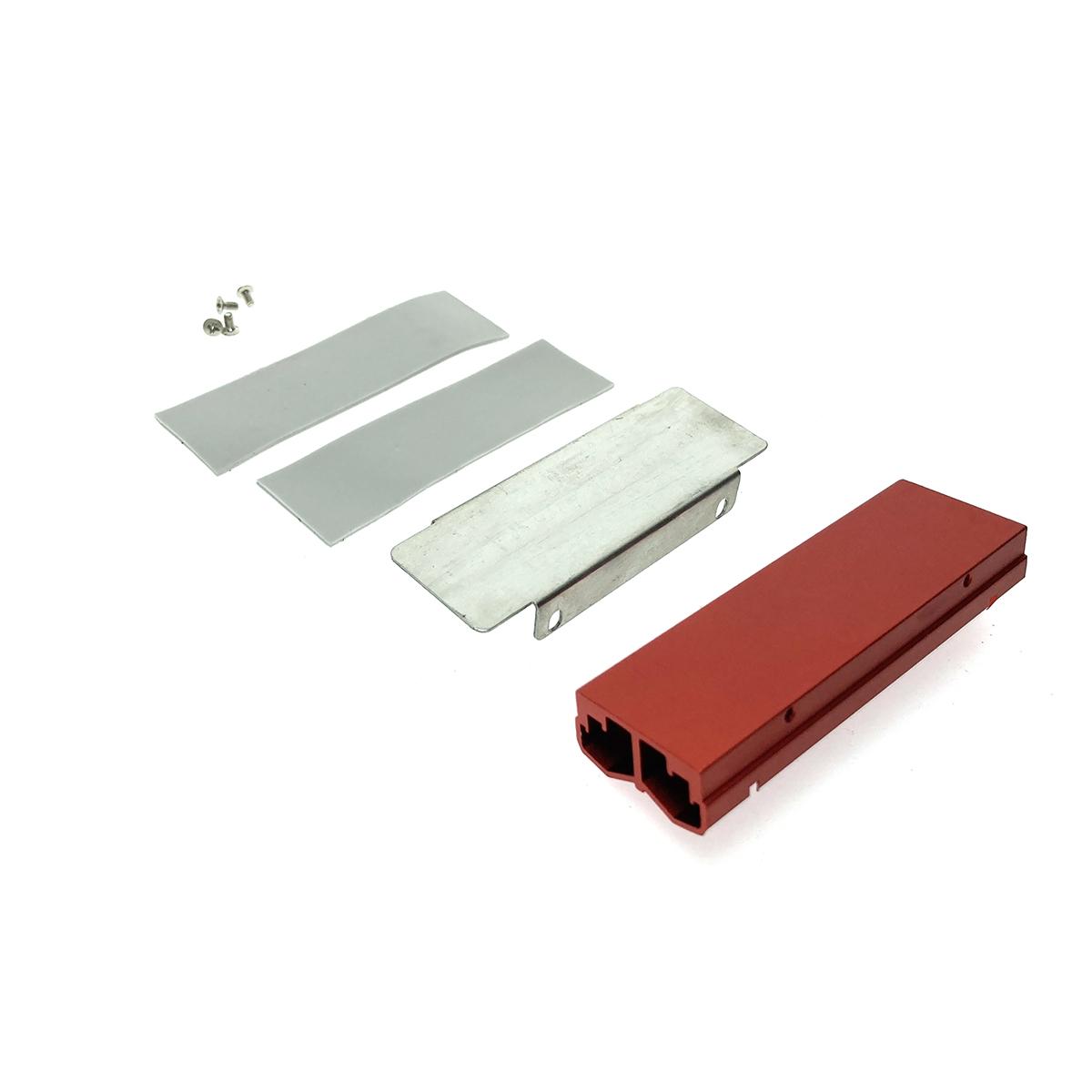 Радиатор для SSD М.2 2280 алюминиевый с пассивным охлаждением , Espada ESP-R6 красный