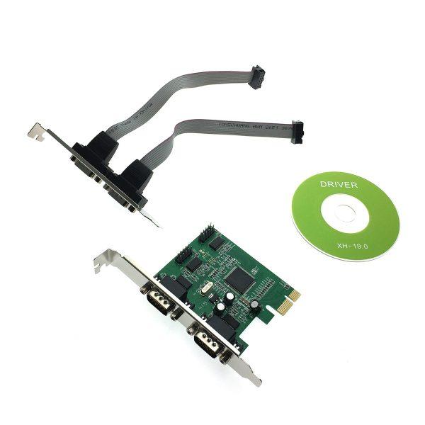 Контроллер PCI-E to 4 RS232 порт /4 COM/SERIAL port/, chip MCS9904CV, FG-EMT04A-1-BU01, Espada, oem