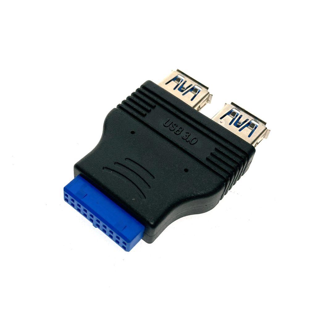 Переходник с материнской платы Ei20U32, 20 Pin Female на 2 порта USB 3.0 Female
