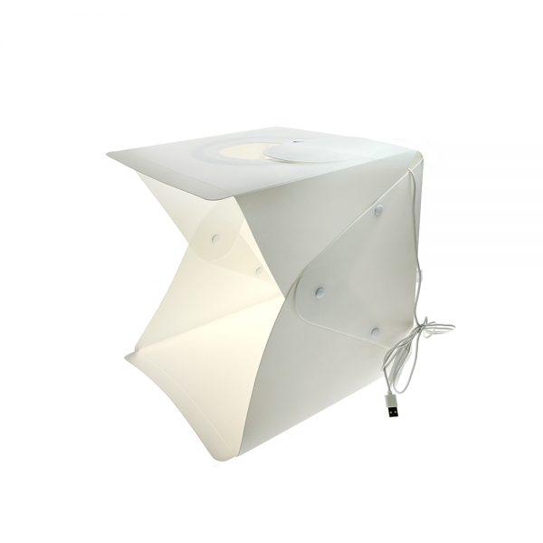 Лайт куб ELC30 Espada 30x30x30см для предметной фотосъёмки со светодиодной подсветкой / фотобокс / мини софтбокс LED складной /