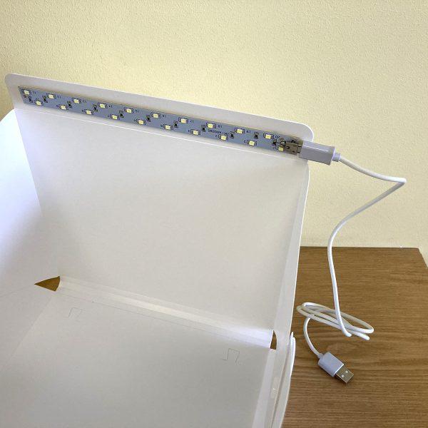 Лайт куб ELC22 Espada 22.6х23х24см для предметной фотосъёмки со светодиодной подсветкой